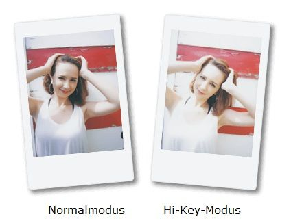 Fujifilm Instax Mini 70 - High-Key Modus
