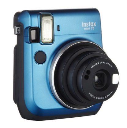 Fujifilm Instax Mini 70 Kamera (inkl. Batterien und Trageschlaufe) Sofortbildkamera blau – Polaroid