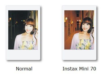 Fujifilm Instax Mini 70 Test Automatische Belichtungssteuerung