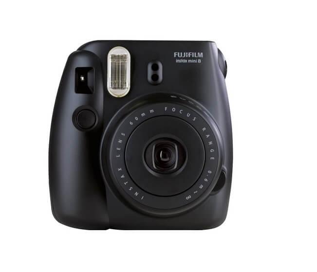 Sofortbildkamera Fujifilm Instax Mini 8 schwarz Front