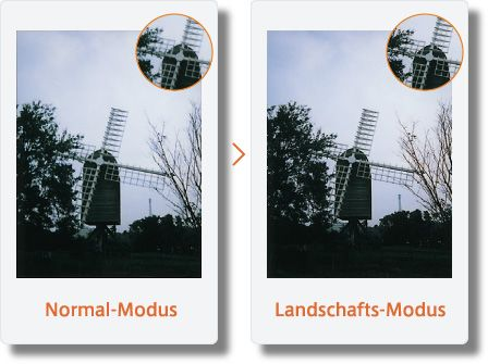 Fujifilm Instax Mini 90 Neo Test - Landschaftsmodus