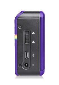 Polaroid Z2300 10MP digitale Sofortbildkamera lila seite anschlüße