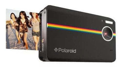 Polaroid Z2300 10MP digitale Sofortbildkamera schwarz vorne-seitlich