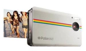 Polaroid Z2300 10MP digitale Sofortbildkamera weiß vorne- seitenansicht druckt Sofortbild