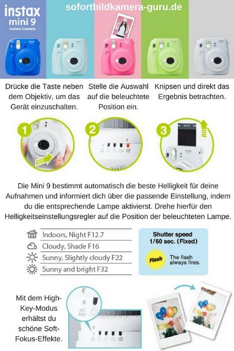 Fujifilm Instax Mini 9 Kurzbeschreibung - Was kann die neue Instax Mini 9