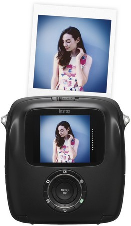 Fujifilm SQ10 Instax Polaroid Kamera Front + Sofortbild und Display