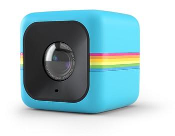 Polaroid Cube+ 1440p Mini Lifestyle Action Kamera mit Wi-Fi & Bildstabilisator (Blau)