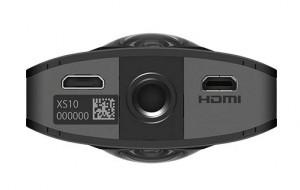 Ricoh Theta S - 360 Grad Kamera - Unterseite und Anschlüsse