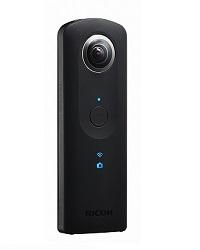 Ricoh Theta S - 360 Grad Kamera schrägansicht