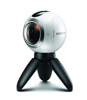 Samsung Gear 360 Actionkamera für Panorama-Videos und Fotos - Weiß