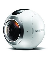Samsung Gear 360 Actionkamera für Panorama-Videos und Fotos kugelförmig