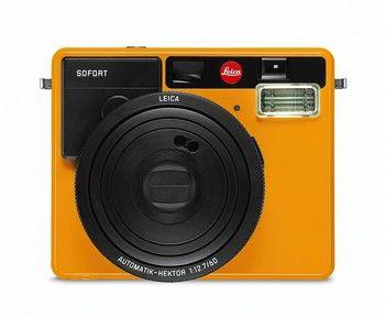 Leica Sofort Polaroid Kamera Test - Farbe Orange