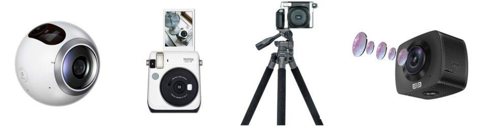 Polaroid Kamera digital und analog und 360 Grad Kamera Vergleich
