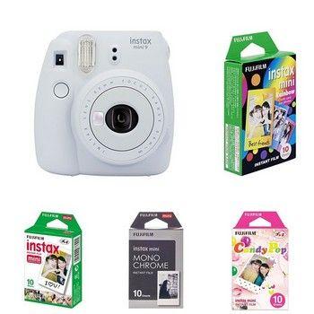 Fujifilm Instax Mini 9 mit Film - Monochrom - Candy Pop - Rainbow - Classic