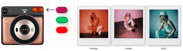 Fujifilm Instax SQUARE SQ 6 Blitz-Farbfilter für kreative Schnappschüsse